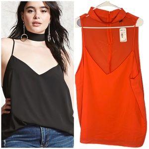 NWT Forever 21 Plus chocker sleeveless blouse